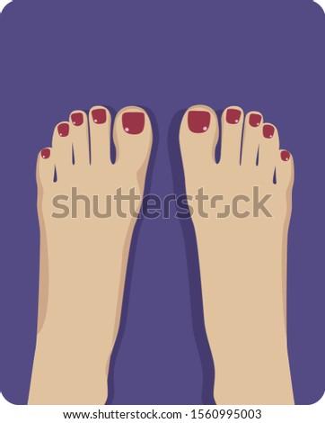 beautiful bared woman feet with