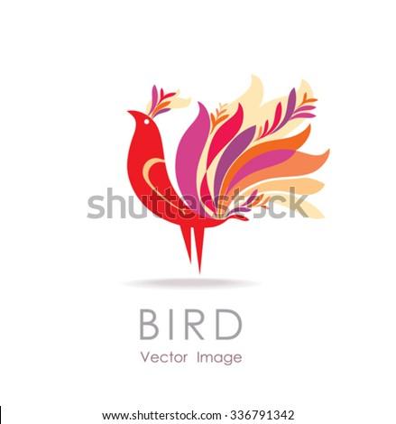 beautiful bird vector sign
