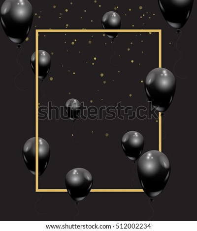 beautiful black balloons