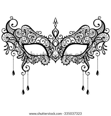 beautiful black lace masquerade