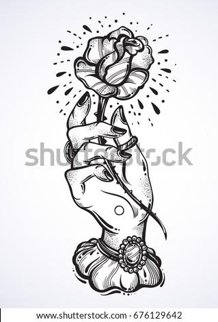 beautiful blackwork tattoo