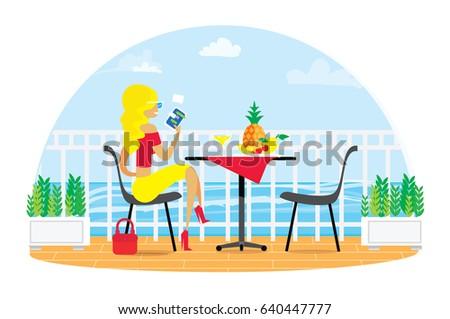 beautiful blond woman chairs