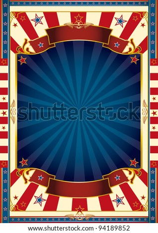 beautiful blue red white background. A large blue frame with sunbeams for your message