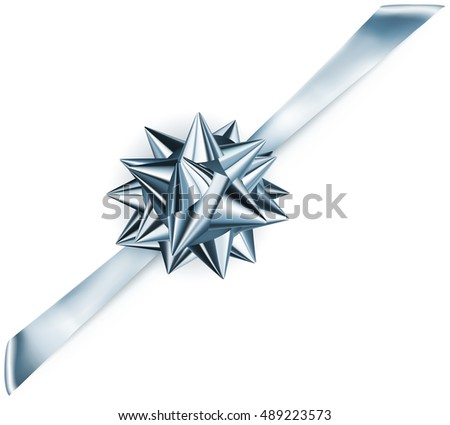 beautiful blue shiny bow with