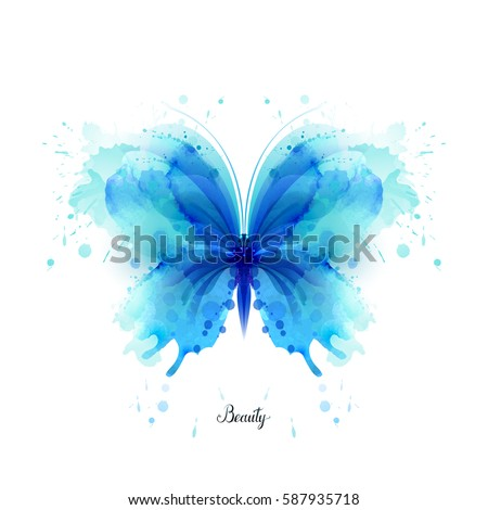 beautiful blue watercolor