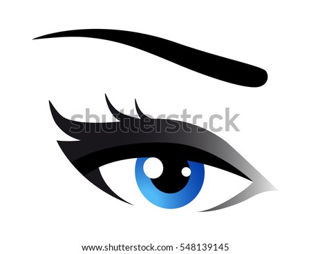 beautiful blue woman eye with