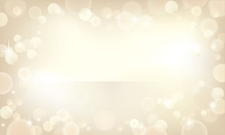 Beautiful bokeh background in a champagne color.