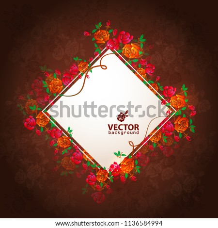 Beautiful bouquet of flowers. Banner of the rose. Place for text. Cover for the holiday. Wine from roses.