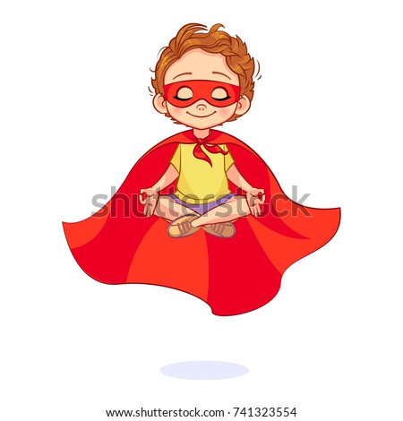 beautiful boy in a super hero