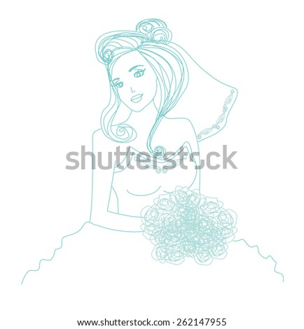 beautiful bride   doodle