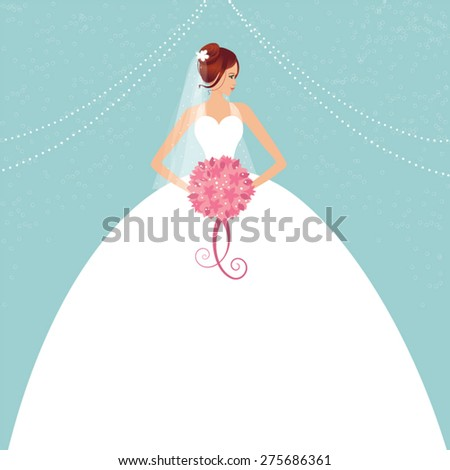 beautiful bride holding a