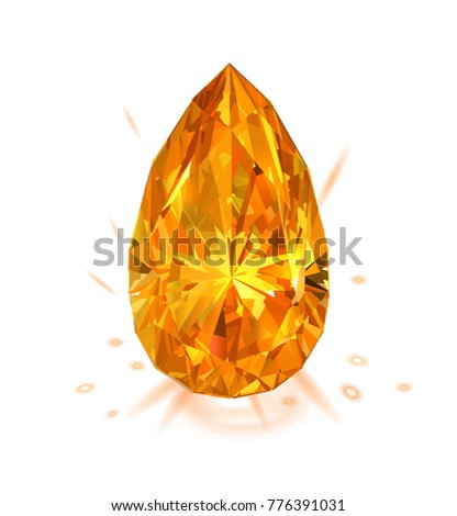 beautiful bright amber diamond