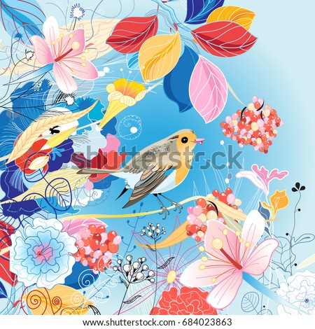 beautiful bright illustration