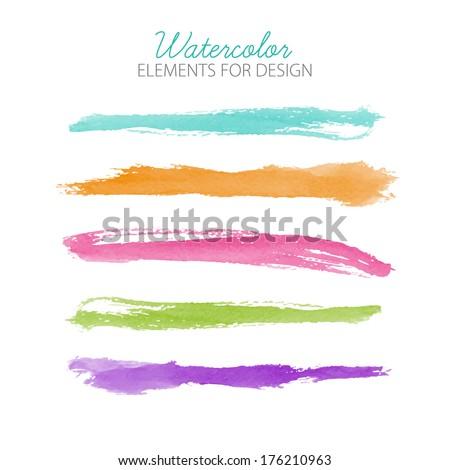 beautiful bright watercolor