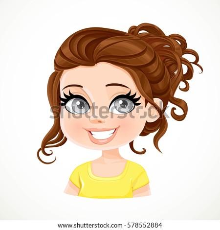 Un Personnage De Fille Brune Aux Cheveux Longs Telecharger