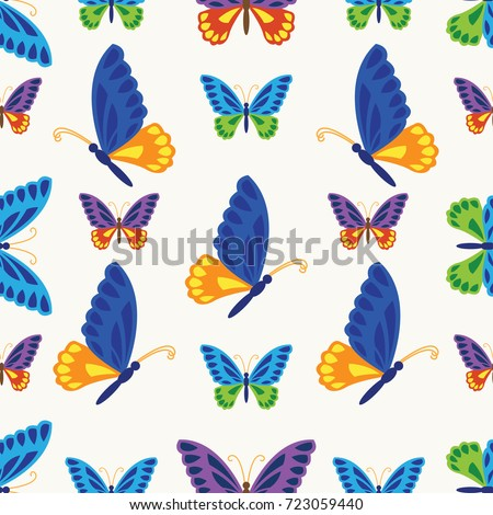 beautiful butterfly seamless pattern. vector illustration