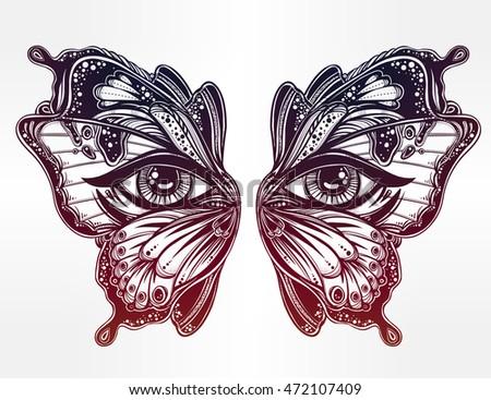 beautiful butterfly wings mask