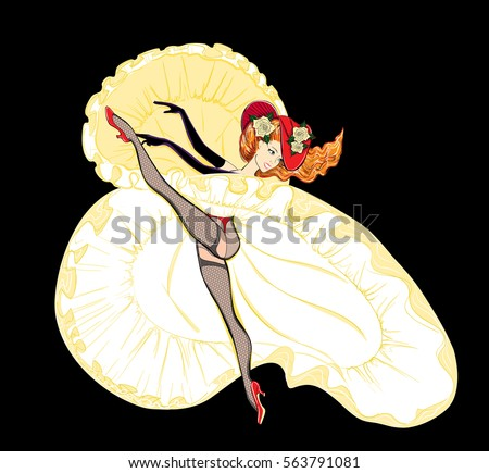 beautiful cancan dancer with