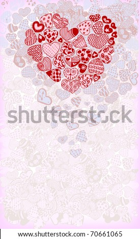 Beautiful Card with Heart - stock vector