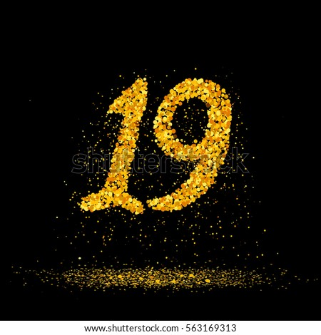 beautiful card with number 19