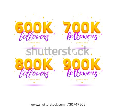 33bd9c40bc4 Beautiful Cards with Lettering and Confetti. Vector Illustration with  Golden Logos for Social Networks.