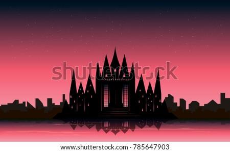 beautiful castle beside the