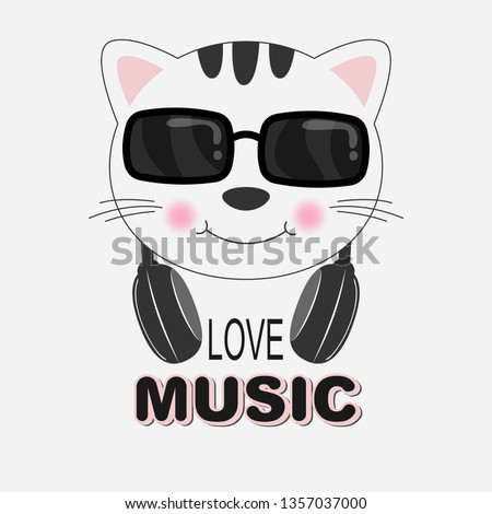 beautiful cat in sunglasses