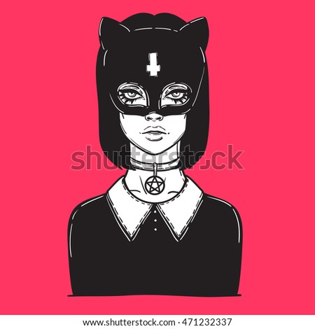 beautiful cat woman with the