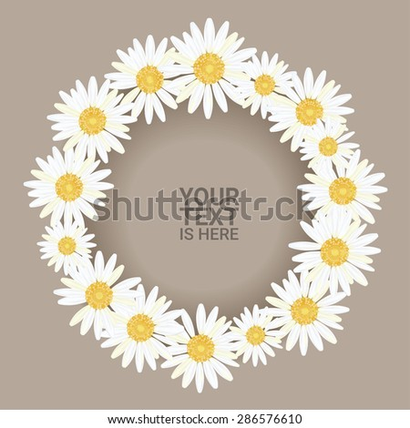 beautiful chamomile wreath on