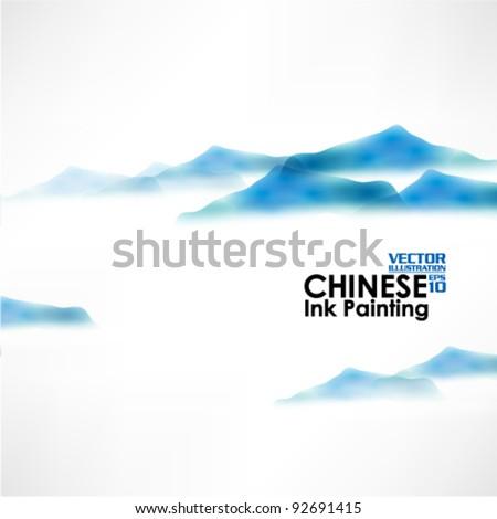 beautiful chinese ink