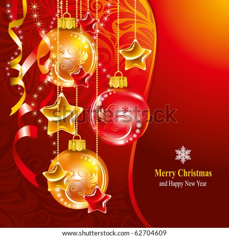Beautiful Christmas background. Vector illustration.