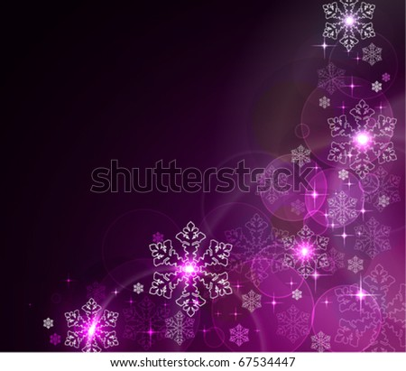 Beautiful christmas background with place for your text, vector illustration