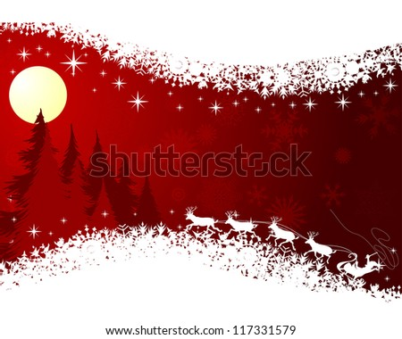 Beautiful Christmas (New Year) card. Vector illustration - stock vector