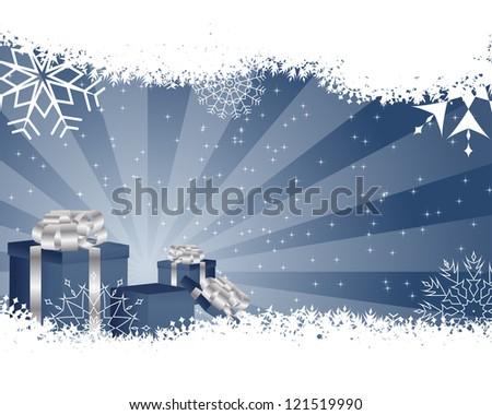 Beautiful Christmas (New Year) card. Vector illustration.