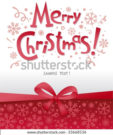 beautiful Christmas postal with congratulation illustration
