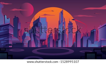 beautiful cityscape with