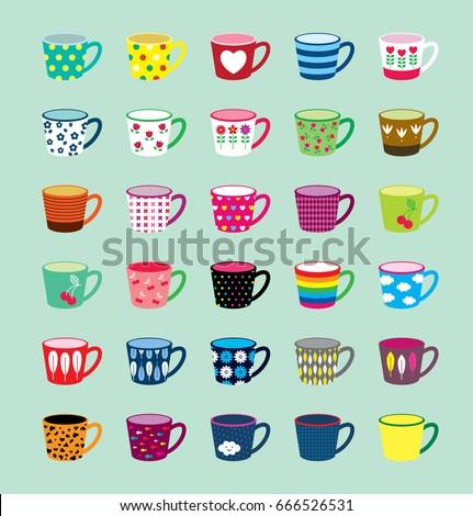 beautiful coffee cup illustration. beautiful tea cup vector.