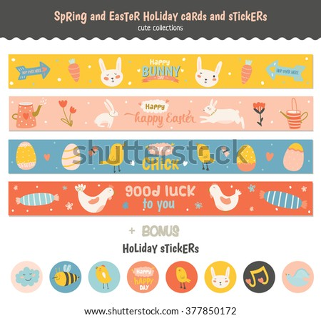 Cute easter gift tag collection download free vector art stock beautiful collection of easter greeting cards gift tags stickers and labels templates in vector negle Gallery