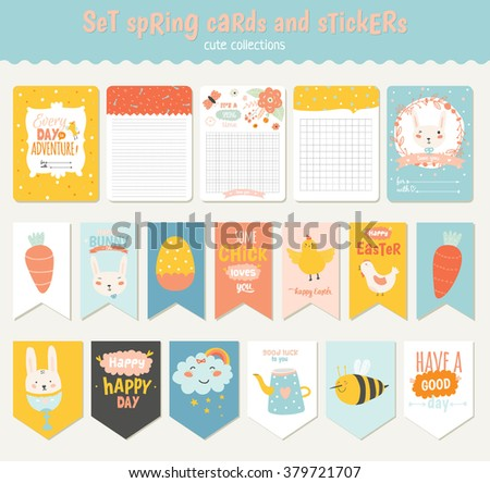 Cute easter gift tag vector collection download free vector art beautiful collection of easter greeting cards gift tags stickers and labels templates in vector negle Image collections