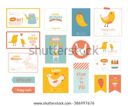 Easter gift tag cartoon free vector download free vector art beautiful collection of easter greeting cards gift tags stickers and labels templates in vector negle Gallery