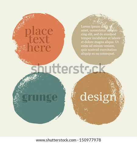 Beautiful color grunge design elements. Vector illustration