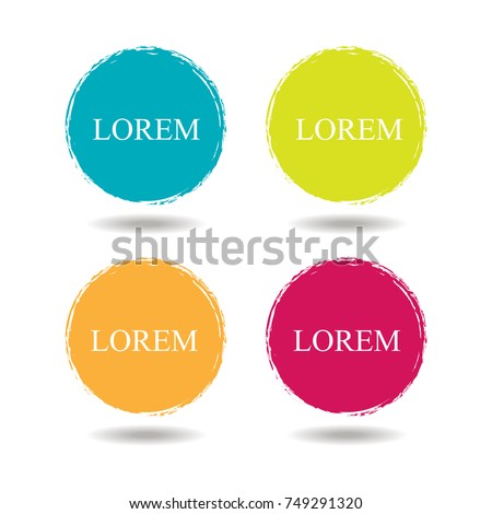 Beautiful color grunge design elements. Vector illustration eps10.