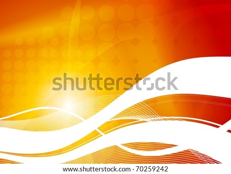 Beautiful colorful background with abstract waves