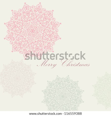 Beautiful colorful lace ornament for merry christmas card, background, backdrop, wallpaper, invitation, border, banner, brochure  vector eps 8