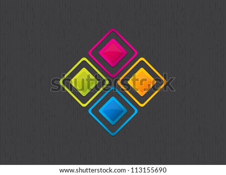 beautiful colorful square background