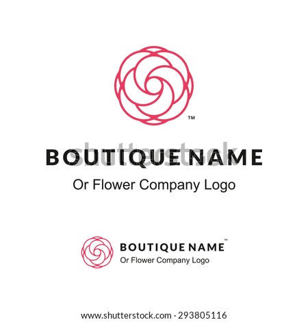 beautiful contour logo with