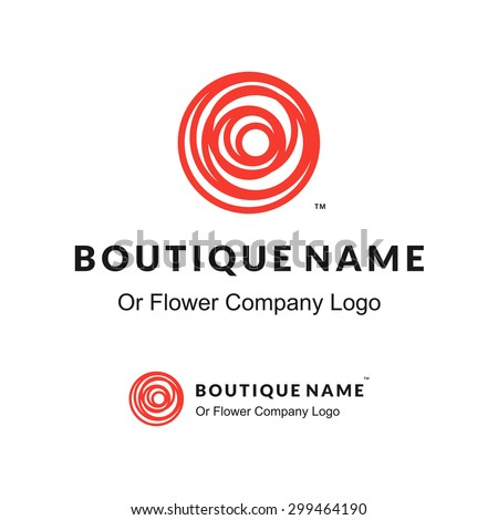 beautiful contour red logo with