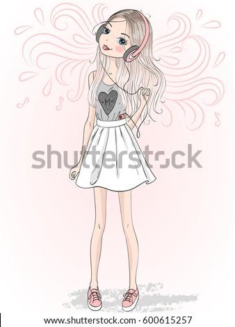 beautiful  cute girl with