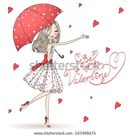 beautiful  cute  romantic girl