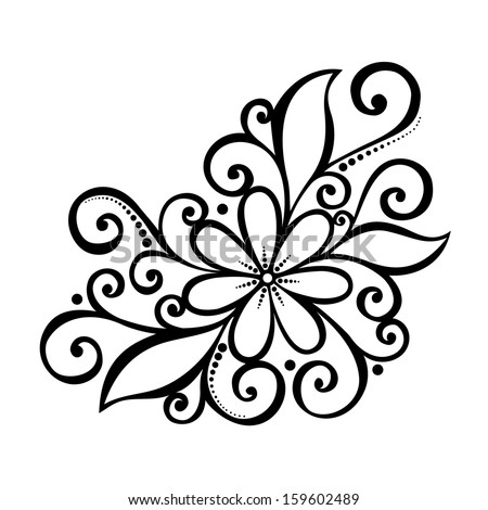 Decoration Flowers Drawings Beautiful Decorative Flower